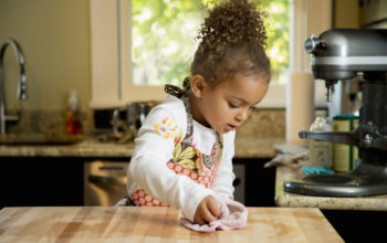 Kids and Cleaning — Old fashioned methods that work