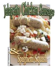 Jalapeño Chicken Sausage and Spaghetti Squash Recipe